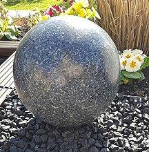 Kugel aus Edelstahl 40 cm Dekokugel Granit
