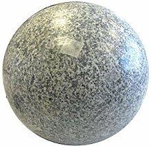 Kugel aus Granit grau, poliert, Durchmesser ca.
