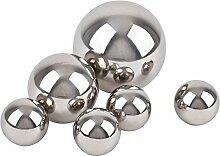 Kugel Ball Deko 6er Set Edelstahl 4-6-8cm silber poliert Gartendeko Objek