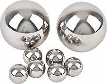 Kugel Ball Deko 8er Set Edelstahl 2-5cm silber poliert Gartendeko Objek