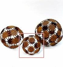Kugel Deko-Kugel Sonnen Metall Rost-Optik D 22cm
