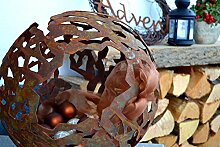Kugel Dekokugel Gartenkugel Rost Edelrost Metall Garten Terrasse Deko Dekoration Gartendeko Rostdeko rostig Gartendekoration Metalldeko Landhausstil Landhaus Stil Rostfinish Rost-Finish