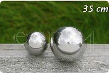 Kugel Edelstahl, Outdoor geeignet, Farbe: silber, Durchmesser 35 cm Dekokugel 1 Stück