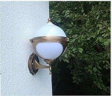 Kugel Garten Wandlampe Aussenleuchte Gold Lampe