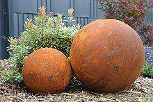 Kugel Rost Rostkugel voll Metall Rost Deko Edelrost 30cm Durchmesser