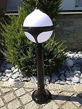 Kugel Schwarz Garten 80 cm Stehlampe Aussenleuchte Paris Leuchte Gartenleuchte Stehleuchte