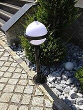Kugel Schwarz Garten 80 cm Stehlampe Aussenleuchte