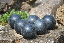 Kugel,Terrazzo,8cm,schwarz,6er Pack