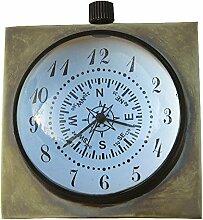 Kugel-Uhr Quarzwerk, Messing antik, Ø: 5cm,