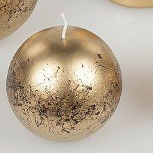 Kugelkerze Ornament D. 8cm gold Formano WA