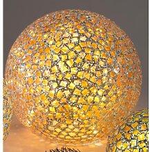 Kugellampe, Leuchte, Lichtkugel KARO Glas mit 50 LEDs gelb bunt Ø 25cm Formano (49,00 EUR / Stück)