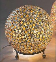 Kugellampe, Leuchte, Lichtkugel KARO mit 25 LEDs Glas gelb bunt Ø 20cm Formano (34,00 EUR / Stück)