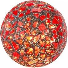 Kugellampe, Leuchte, Lichtkugel KARO mit 25 LEDs Glas rot bunt Ø 15cm Formano (21,90 EUR / Stück)