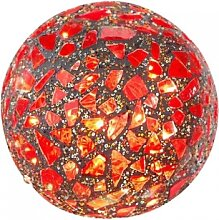 Kugellampe, Leuchte, Lichtkugel KARO mit 25 LEDs Glas rot bunt Ø 20cm Formano (34,00 EUR / Stück)