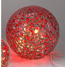 Kugellampe, Leuchte, Lichtkugel KARO mit 50 LEDs Glas rot bunt Ø 25cm Formano (49,00 EUR / Stück)