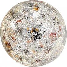 Kugellampe Leuchte Lichtkugel MOSAIK mit 25 LEDs Glas silber bunt Ø 15cm Formano (21,90 EUR / Stück)