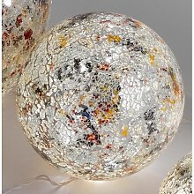 Kugellampe Leuchte Lichtkugel MOSAIK mit 25 LEDs Glas silber bunt Ø 20cm Formano (34,00 EUR / Stück)