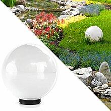 Kugelleuchte 20cm Gartenleuchte Lampe Kugellampe Gartenlampe Außenleuchte Leuchte Weiss (1x 20cm Weiß)