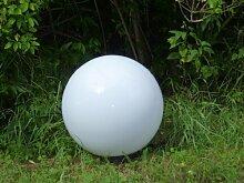 Kugelleuchte Außenleuchte 2er Set (30 + 30cm) Marlon Kugellampe mit Erdspieß, E27, Dekoleuchte