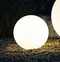 Kugelleuchte Bodenleuchte Leuchtkugel Gartenkugel Mundan inkl. Erdspieß   300 mm Ø   weiß   wetterbeständiger Kunststoff   230V   E27   IP44   rund   Außenleuchte   Gartenleuchte   Wegleuchte