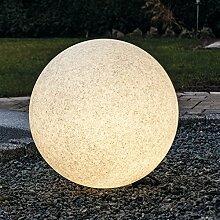 Kugelleuchte Bodenleuchte Leuchtkugel Gartenkugel Mundan inkl. Erdspieß   400 mm Ø   granit   wetterbeständiger Kunststoff   230V   E27   IP44   rund   Außenleuchte   Gartenleuchte   Wegleuchte