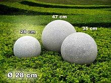 Kugelleuchte Gartenkugel GlowGranite 28cm 10220