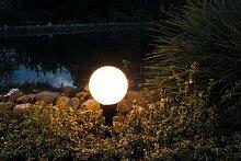 Kugelleuchte Moria E27 Ø 19cm mit Erdspieß