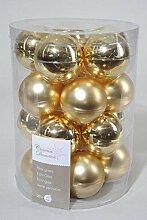 Kugeln Glas gold Glaskugeln Weihnachtskugeln