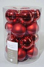 Kugeln Glas rot Glaskugeln Weihnachtskugeln