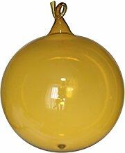 Kugeln gold klarglas mit Glasöse 5 Stück d 6cm