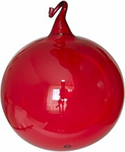 Kugeln rot klarglas mit Glasöse 4 Stück d 10cm
