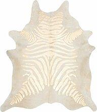 Kuh Hide Teppich Gold Zebra bedruckt Alfombra Piel