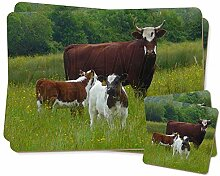 Kuh mit Kalb Zwillings Platzdeckchen und