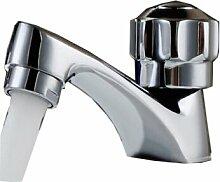 KUHA Mixer Waschbecken Badezimmer Wasserhähne, kleine Monobloc-Wasserfall Badewanne Waschbecken Wasserhähne Single Kalten Mund Waschmaschine Wasserhahn Chrom