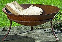 kuheiga Feuerschale Rost Ø 47cm Schmiedeeisen Feuerkorb Rostig Brennkorb für den Garten