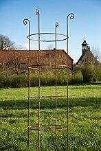 KUHEIGA Stabile Rankhilfe Metall H: 180cm Ø: 49cm