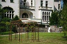KUHEIGA Stabiler Gartenpavillon aus Metall, ROST