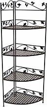 KUHEIGA Verziertes Eckregal, Höhe 176cm