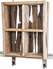 kuheiga Wandregal Holz Höhe: 43cm Gartenregal Shabby Hängeregal Küchenregal Gewürzregal