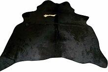 Kuhfell Teppich / Rindsleder Fellteppich Natür - Kleinen Schwarz und Weiß - 158 cm x 156 cm Echtes Designer Lederteppich von Narbonne Leder Co