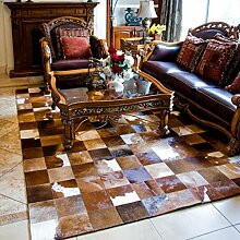 Kuhfell Teppich Villa Wohnzimmer Horsehide Teppichboden Schlafzimmer Roßhaar Teppich ( größe : 140*200CM , stil : #8 )
