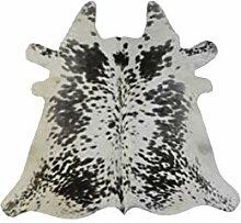Kuhfellteppich aus Rindsleder, gerollt, ca. 91 x