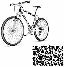 Kuhflecken Fahrrad Aufkleber Folienplot