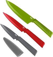 KUHN RIKON COLORI+ Essential Messer Set 3-teilig,