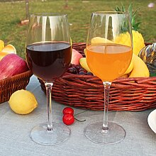 Kuke 2er Unzerbrechliche Stemless Weinglas, 100% Bruchsicher Kunststoff Rotweinglas ohne Stiel, BPA-frei, Spülmaschinenfest, Trinkbecher für Party, BBQ, Camping, Beach und Pool (Transparent, 12,5 OZ)