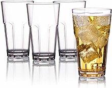 Kuke 4er Set Weinglas Plastik, PCTG