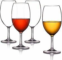 Kuke 4er Unzerbrechliche Stemless Weinglas, 100%