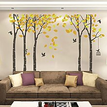 Kuke Wandtattoo Großen Baum mit Gelbe Blätter