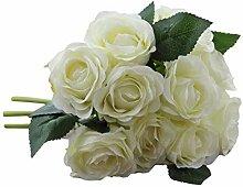 Kukiu künstliche Rose Blume 10 Kopf Braut