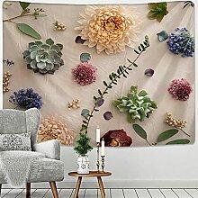 KUKUALE 3D Druck Mandala Blume Pflanze Tapisserie